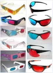 Анаглифные 3D очки,  стереоочки (оправа - пластик,  картон) от 10 грн!!!