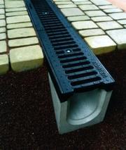 Системы водоотвода,  водостоки,  бетонные желоба,  водоотвод,  стоки