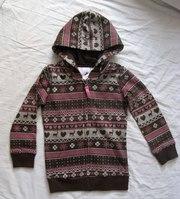 Худи кофта с начесом детская одежда р. 122