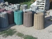Урна уличная бетонная