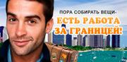 Работа за границей,  поиск вакансий,  открытие виз