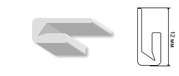 Пвх Гарпун 12 мм. для натяжных потолков