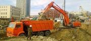 Уборка и вывоз строительного мусора. Услуги трактора и экскаватора.