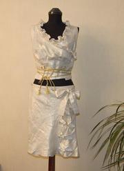 Женский летний костюм из льна