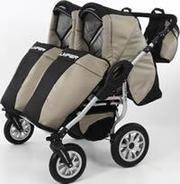 продам универсальную коляску для двойни TAKO JUMPER DUO